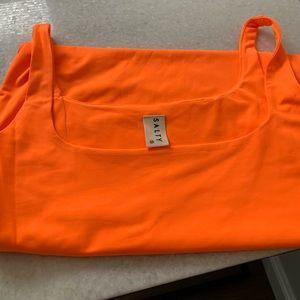 Forever 21 Dresses - Forever 21 Neon orange bodycon mini dress